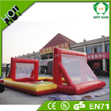 Cheap price inflatable soccer arena for sale, inflatable soap football field,outdoor inflatable soccer playground for sale