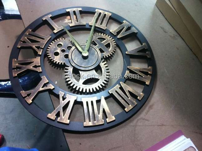 Antique old style MDF wall clock
