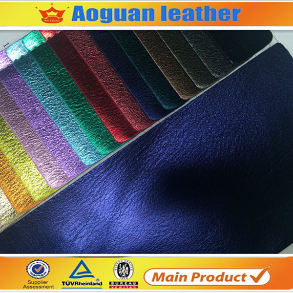 2017 new design nonwoven backing metallic patent pu shoe <strong>leather</strong> for making shoe A2163