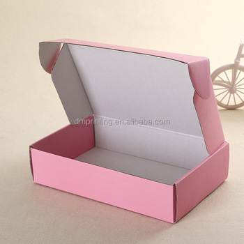 Pretty pink corrugated shipping box