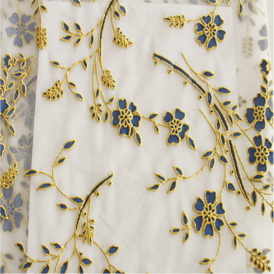 wide new square embroidery mesh fabrics textile