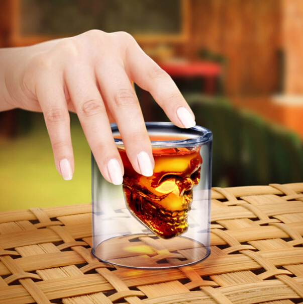 Crystal Skull Head Shape Vodka Wine Shot Glass Drinking Ware Cup