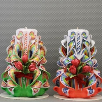 Beautiful Candles Carved Candles Valentines Day Gift Wedding Gift ...