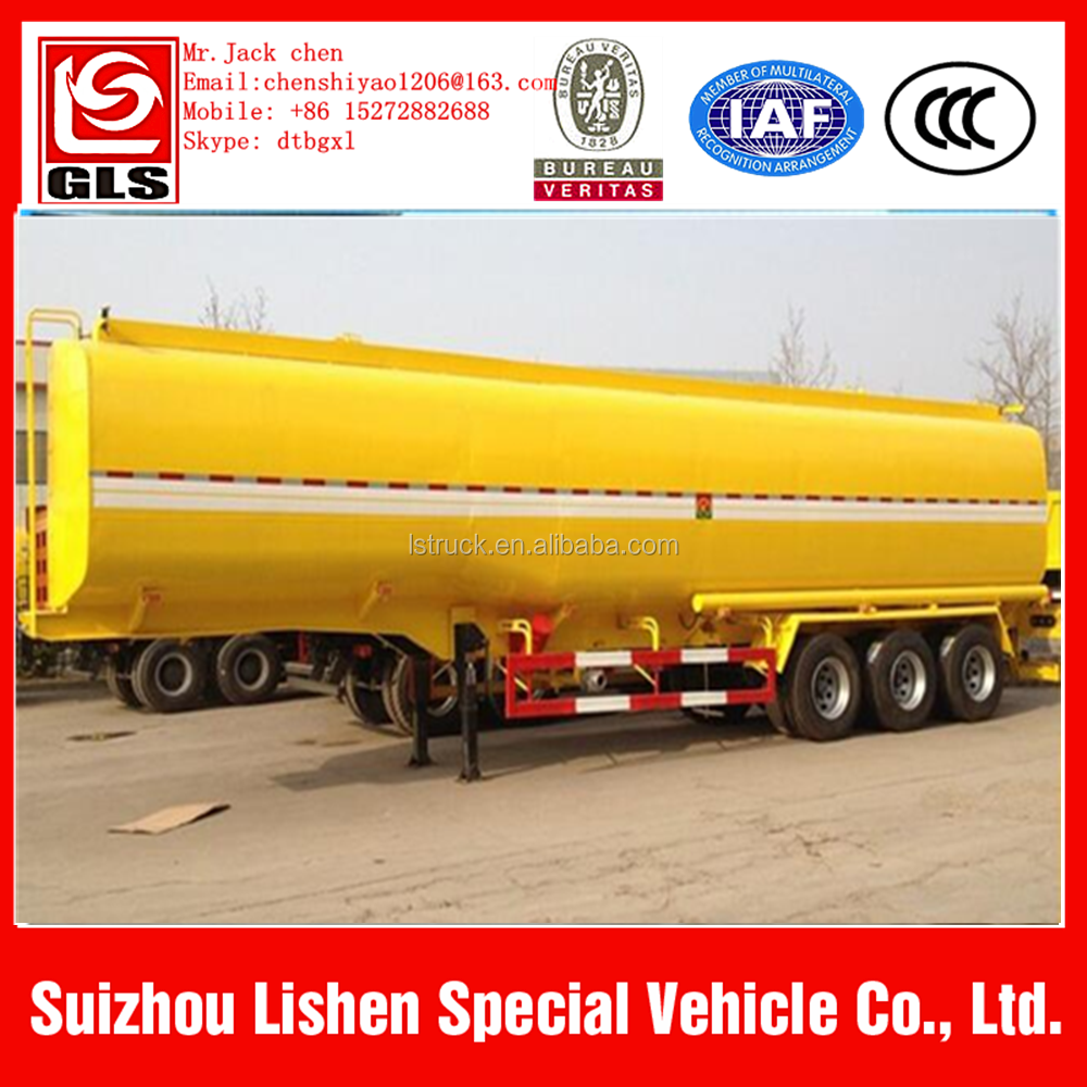 Tri axle 36000 litres diesel fuel tanker semi trailer with free spare parts