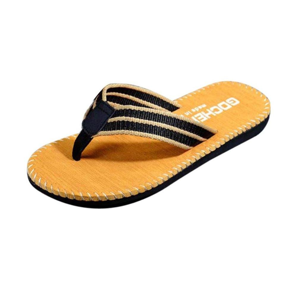903ce858587607 Get Quotations · SUKEQ Men Classical Summer Flip Flops Shoes Comfort Beach  Thong Sandals Male Slipper Flip-flops