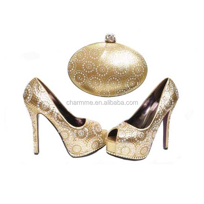 and for or heel wedding party 832 shoes matching CSB italian High fashion shoes bags set bag qwFBnE7