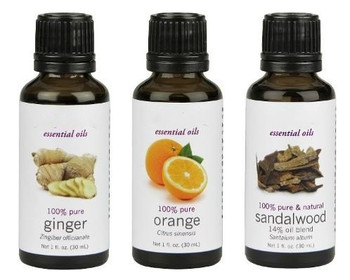 Hot selling 100% pure organic sandalwood ,ginger and orange essential oil