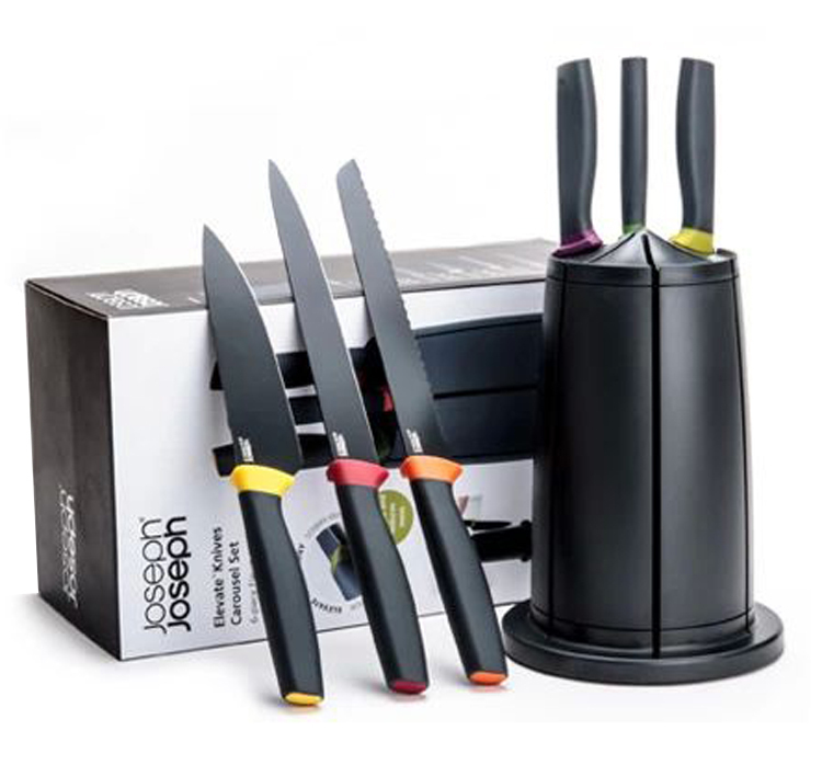 Get Quotations · Genuine UK Joseph Joseph Kitchen Knives Set 6 Stainless  Steel Kitchen Knife Set Knife Combination Turret