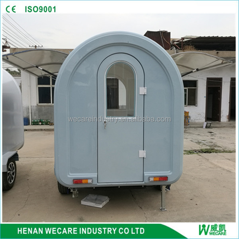 New Arrival Mobile Kitchen Food Cart Truck Outdoor/ Customized China Hand Push Fryer Crepe Mobile Food Cart