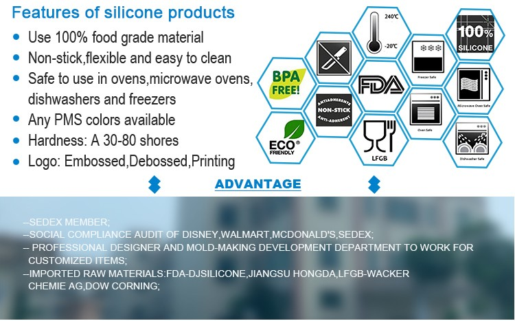 Custom silicone products Guangdong suppliers for importer
