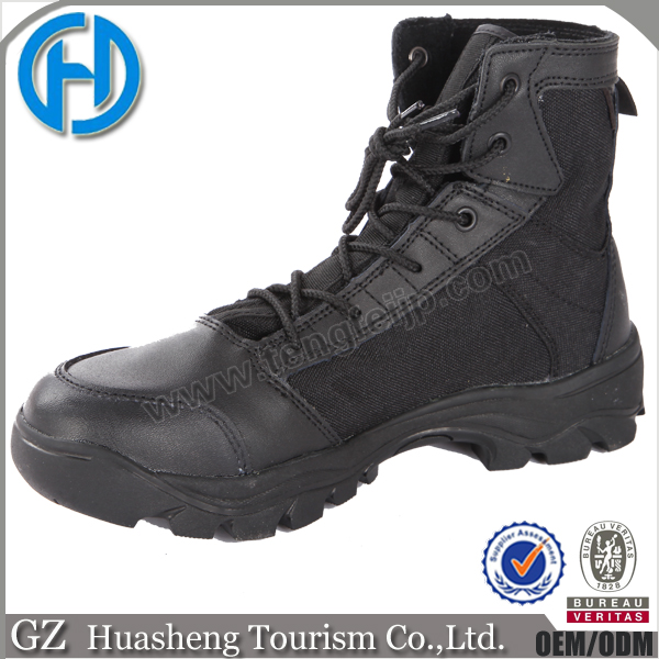 Black Tactical Police Force Military Combat Ankle Boots