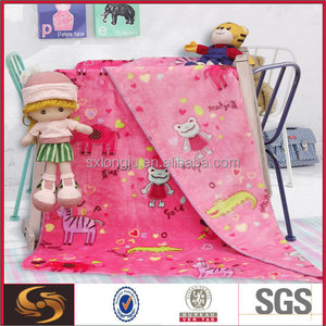 "china wholesale 100% polyester super soft flannel fleece blanket (40""x50"" baby towel)"