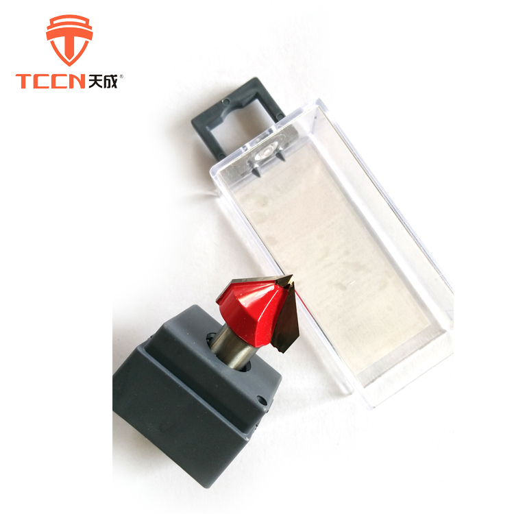 TCCN Tool TCT Tungsten Carbide 90 Degree V Groove Router Bit For Wood Drilling