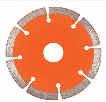 diamond segmented saw blade for dry cutting marble and granite slab