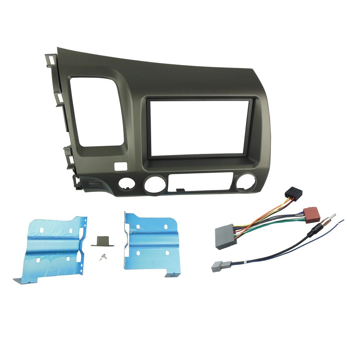 Cheap Honda Civic Stereo Wiring Diagram Find For Si Fog Lights Get Quotations Dkmus Double Din Radio Dash Install Mount Trim Kit 2006 2011
