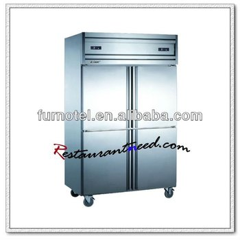 R220 Hot Sale Double Temperature Commercial 4 Doors Refrigerator