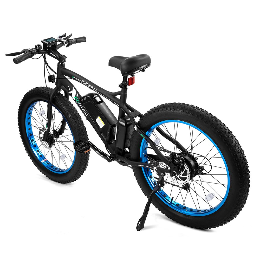 925550cc9f8 ECOTRIC Fat Tire Electric Bike Beach Snow Bicycle 4.0 inch Fat Tire ebike  500W Electric Mountain