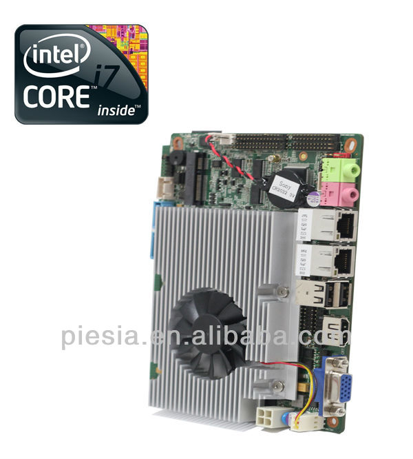 mini itx car pc motherboard HM77 onboard intel core i3/i5/i7 cpu with onboard ram DRR3 8GB /6*COM