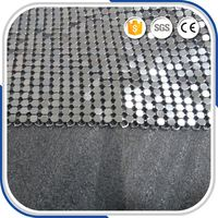 Popular 8mm Silver Metallic Cloth Sequin Mesh Fabric Curtain Drapery
