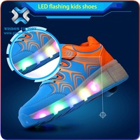 Fashion boys girls trainer luminous sneaker beauty children sports shoes flashing kids led lighting casual shoes for children
