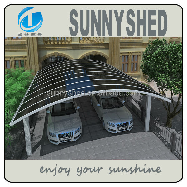 Aluminio cochera con techo de policarbonato garajes for Garajes con techos policarbonato
