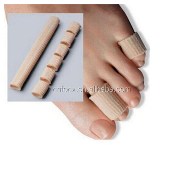 Gel Fabric-Covered Toes Fingers Tube Bunion Protector / Toes Finger Protector / toe Calluses Corns