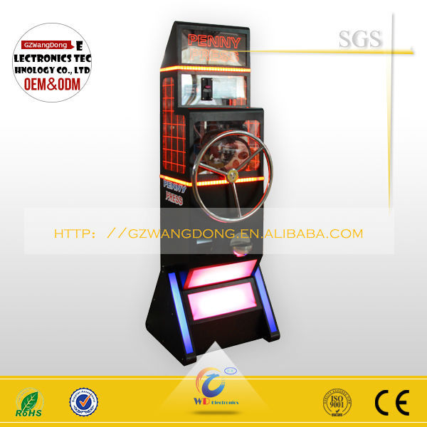 2017 new products funny and DIY press,coin press machine press vending machine