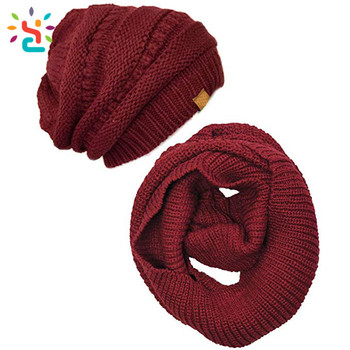 New Arrival Fashion Winter Wholesale Hat And Scarf Sets Knitted Women  Winter Hat And Scarf Set 5afe3a50499