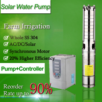 Solar 2 inch diameter water submersible pumps