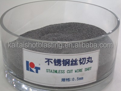 0.6mm Stainless steel cut wire shot/High cycle 7000 times