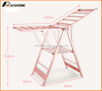 5071951ad62 2018 New Hot Sale Butterfly Shape collapsible adjustable clothes drying  rack cloth dryer hanger stand folding