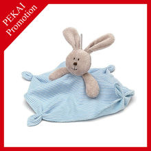 Coral fleece soft kids hooded blanket, plush bunny design