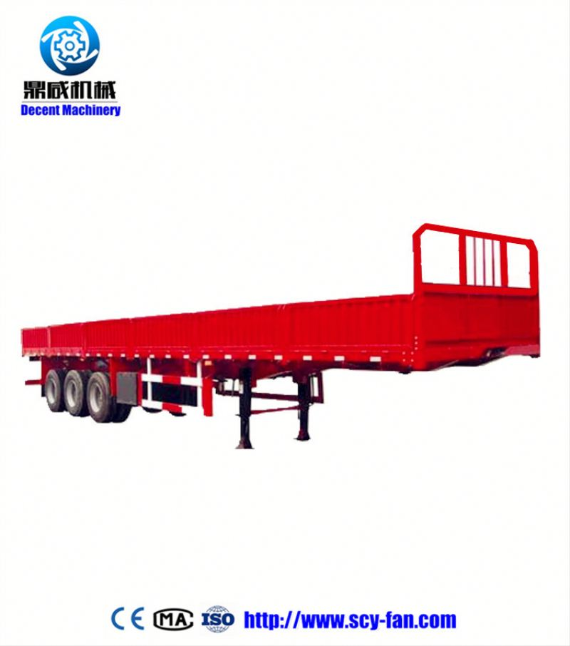 flat bed hydarulic dump trailer in 20ft unload container