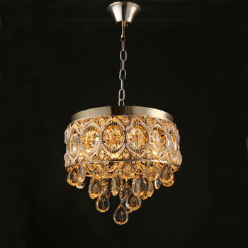 Modern Gold Crystal Ceiling Chandelier Light Luxury Pendant