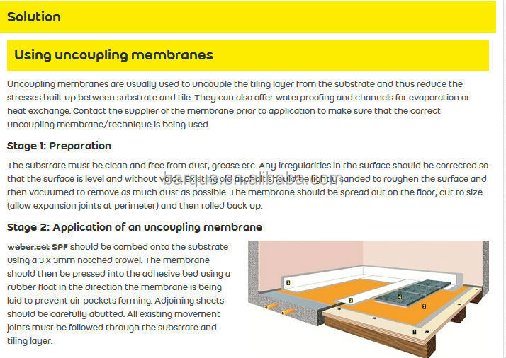 3mm Ceramic Tile Underlay Uncoupling Mat Buy