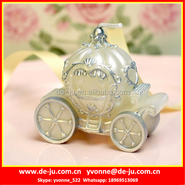 Halloween Decoration Silver Pumpkin Car Luxury Candle