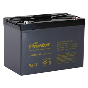 Prostar longer cycle life 12v 100ah deep cycle battery for solar power bank