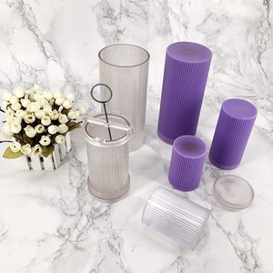 PC plastic fluted column pillar candle mold for DIY