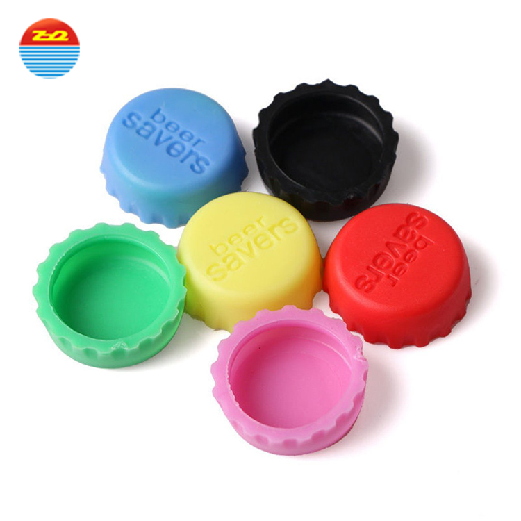 Promotional Items Accessories Cool Custom Printed Lid Beer Bottle Stopper Crown Cap Reusable silicone bottle lid For Beer Bottle