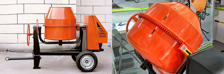 China manufacturer mini gas powered self loading mobile for Cement mixer motor for sale