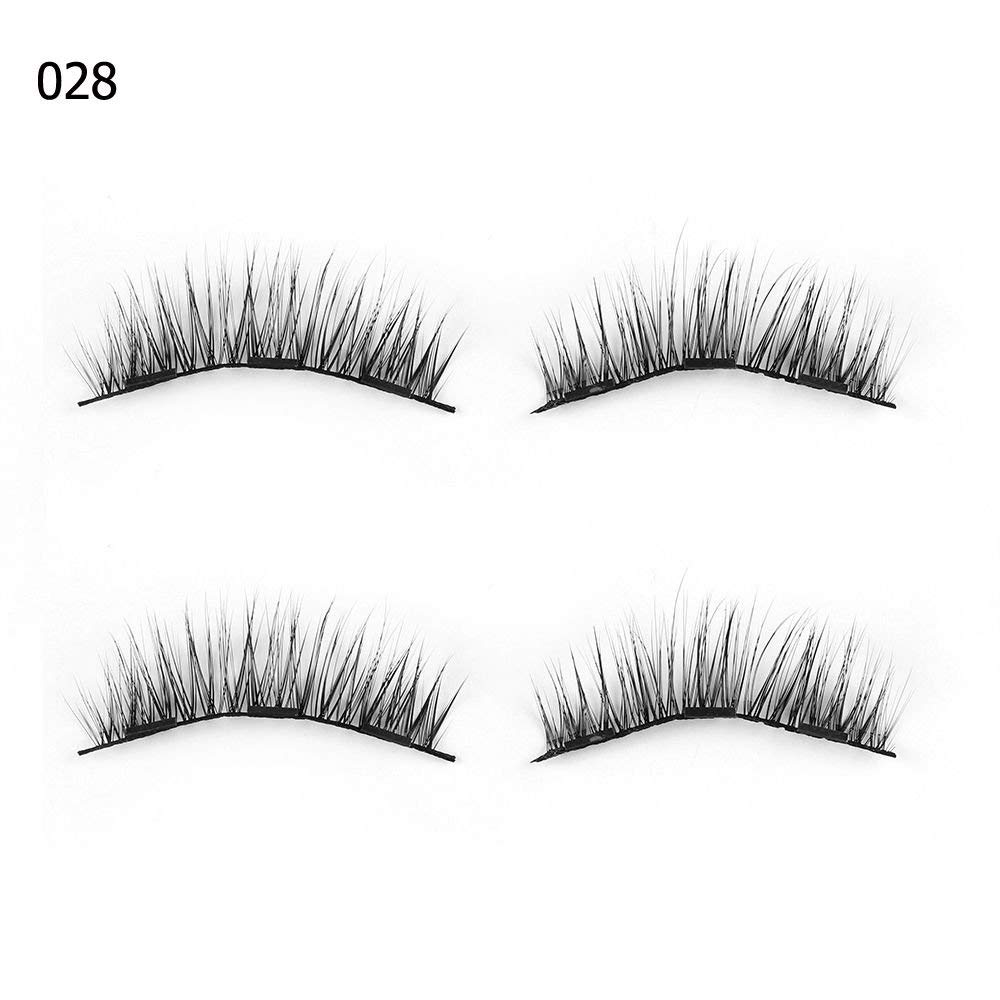 4ef8a74f8d4 Get Quotations · 4 Pcs Triple Magnetic False Eyelashes Extension Tools Full  Coverage Lashes Thick Long Lashes