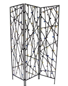 metal art folding wrought Iron Room Divider