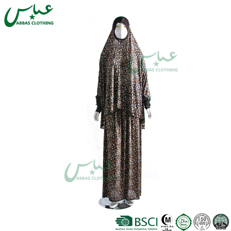 ABBAS brand wholesale custom cheap fashion floral muslim prayer clothing black muslim latest dubai burqa designs
