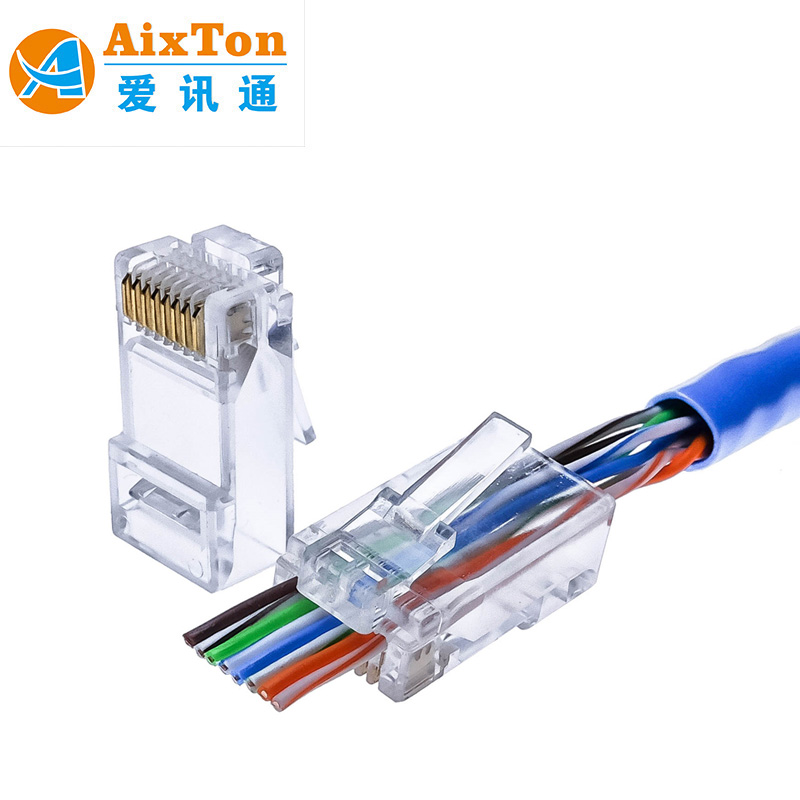 Best quality high speed 10 pin rj45 connector transparent