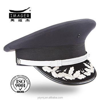 1266c9cc046 Customized Air Force Captain Cap With Silver Embroidery - Buy Air ...