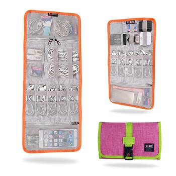 3a64701672 Bubm Digital Usb Foldable Travel Cable Organizer Roll Up Bag - Buy ...