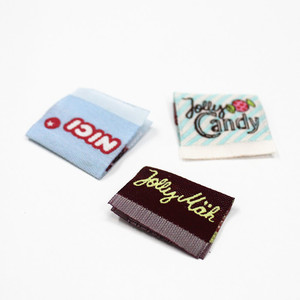 Custom brand name fabric label t-shirt tag
