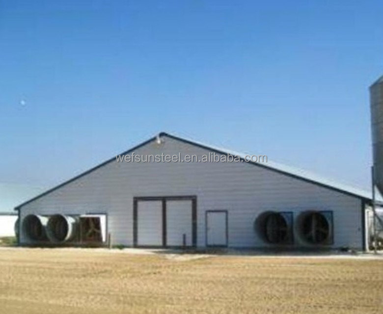 China Manufacturer Steel Structure Prefab Poultry Farm House in India