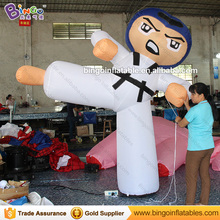 Custom built inflatable Kung fu cartoon characters inflatable man with blower