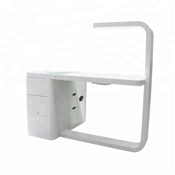 Nail polish display rack stand table modern Iron material nail table design for sale